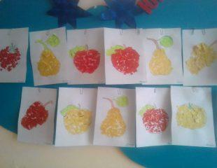 обрывная аппликация овощи и фрукты