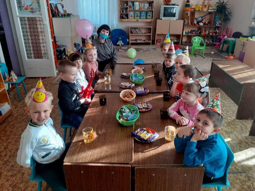 День именинника в средней группе «Звёздочки»